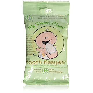Oral Hygiene Gum Wipes - Tooth Tissues - Dental Wipes for Baby and Toddler Teeth and Gums (1 Pack of 30 Wipes)