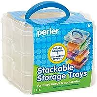 Perler Stacking Storage Trays, Blue