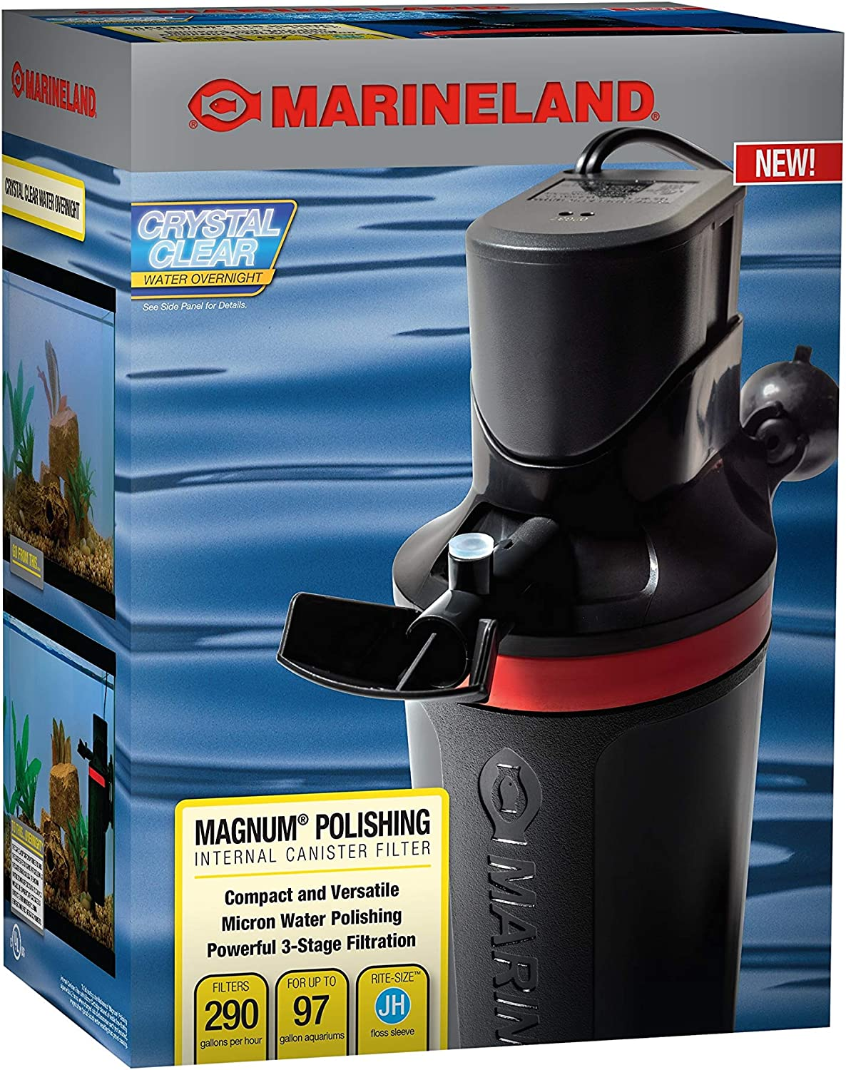 Marineland Magnum Polishing Internal Filter for 55 gallon fish tank
