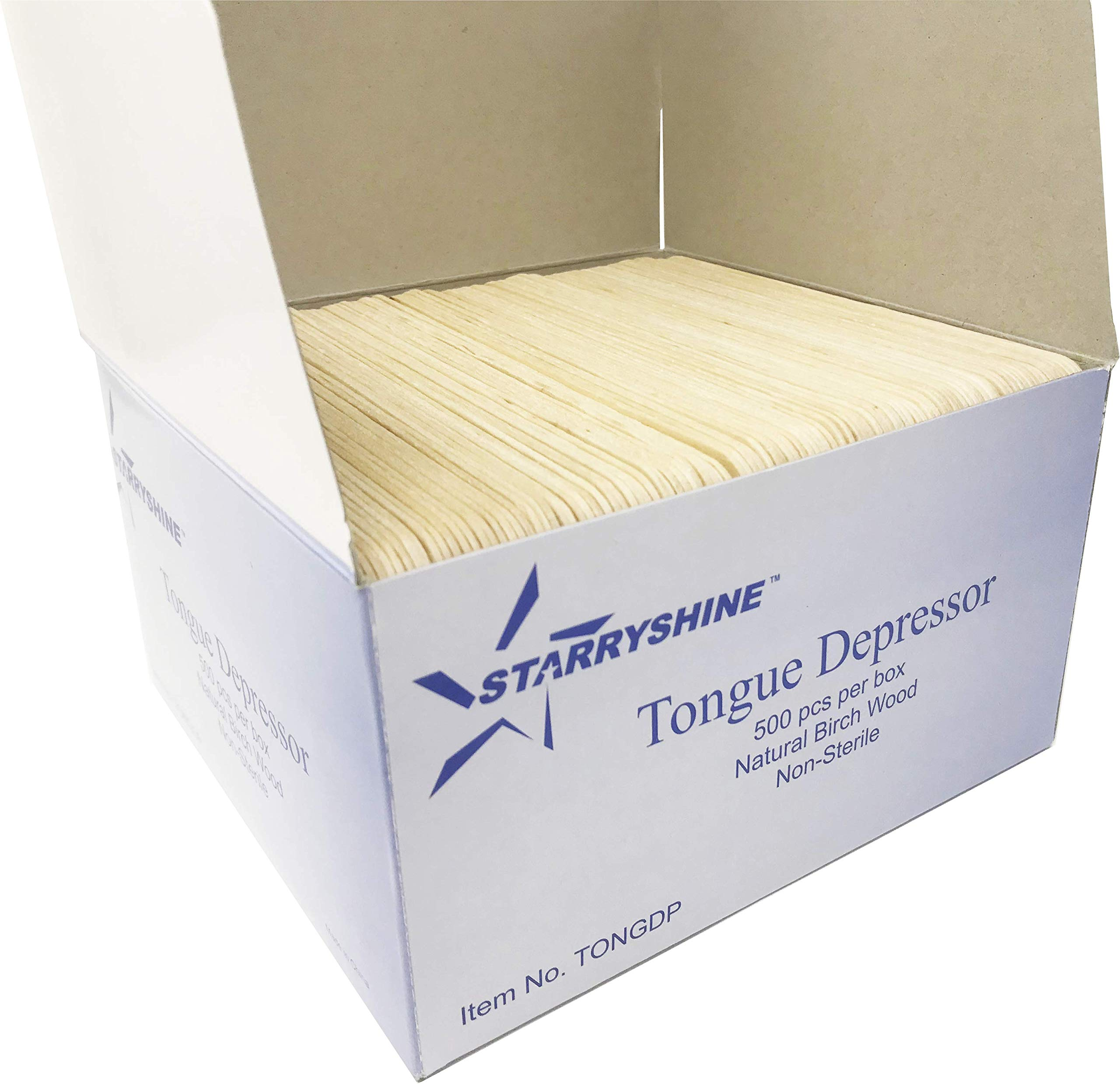 Tongue Depressors Non-STERILE Standard Size 6''x0.75'', Premium Natural Birch Wood Craft Sticks (2500 PCS (5 BX)) by Starryshine (Image #4)