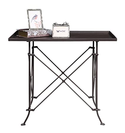 Creative Co Op HD6145 Metal Table With Bronze Finish
