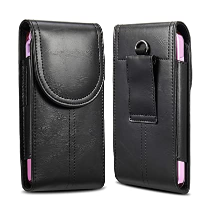 more photos 41a34 8aea7 KIWITATA iPhone 8 Plus 7 Plus XS Max Belt Holster,kiwitatá Vertical Premium  Leather Belt Pouch Carrying Case [Belt Loop] Crazy Horse for Galaxy S9 S8  ...