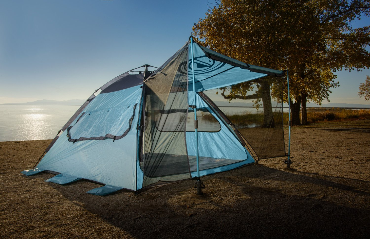 Amazon.com Quick-Up Cabana Style XL Beach Tentu2013 2 in 1 Sun Canopy And Summer Shelteru2013 Perfect For Family Outings C&ing Trips Or Lakeside Activities ... & Amazon.com: Quick-Up Cabana Style XL Beach Tentu2013 2 in 1 Sun Canopy ...