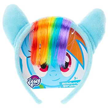 Image Unavailable. Image not available for. Color  My Little Pony Rainbow  Dash Plush Headband ... 13370f2fa74