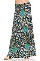 Shamaim Womens Fold Over Maxi long Skirt