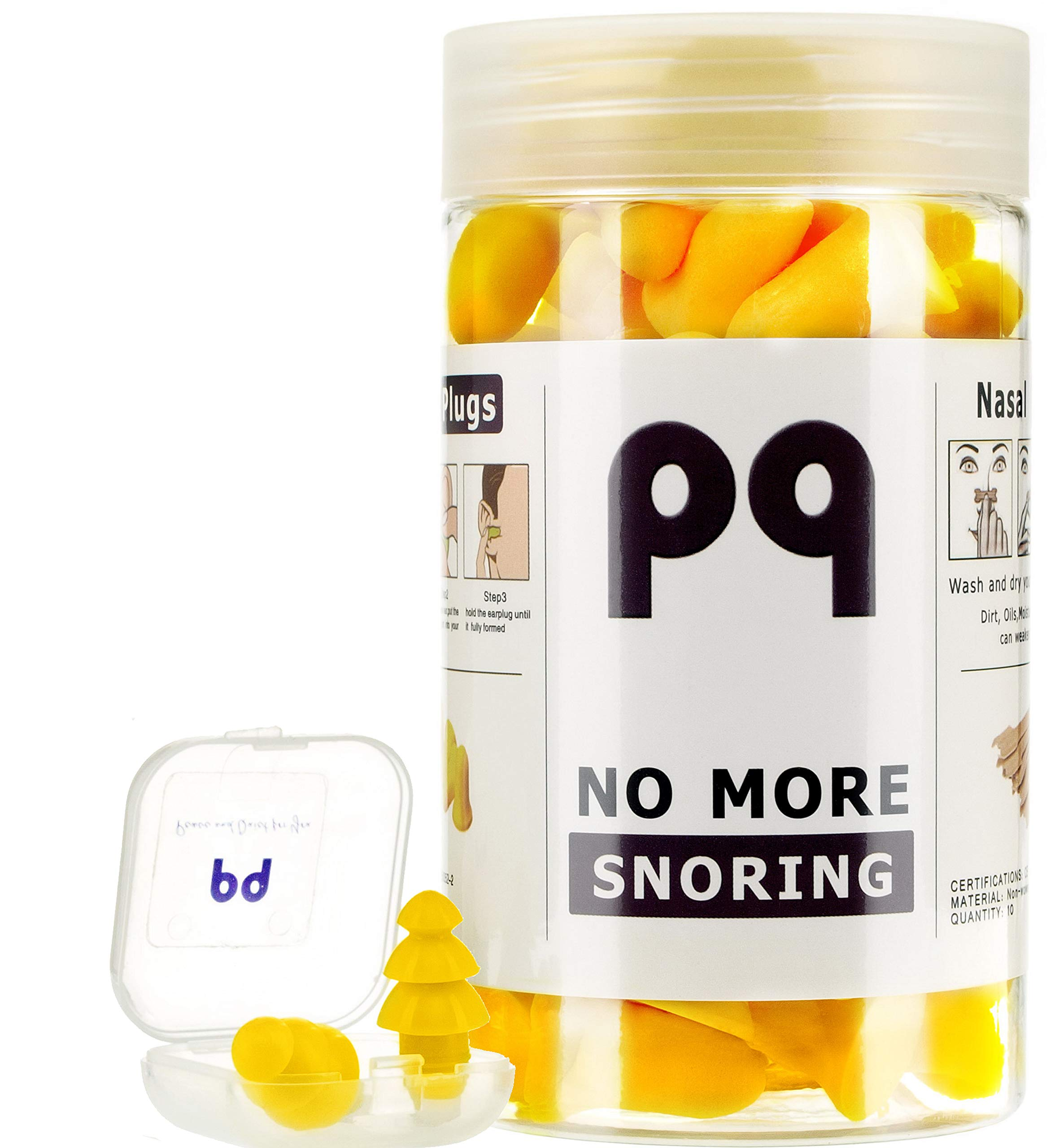 PQ Earplugs to Sleep in - 36 Pairs for Your Health!