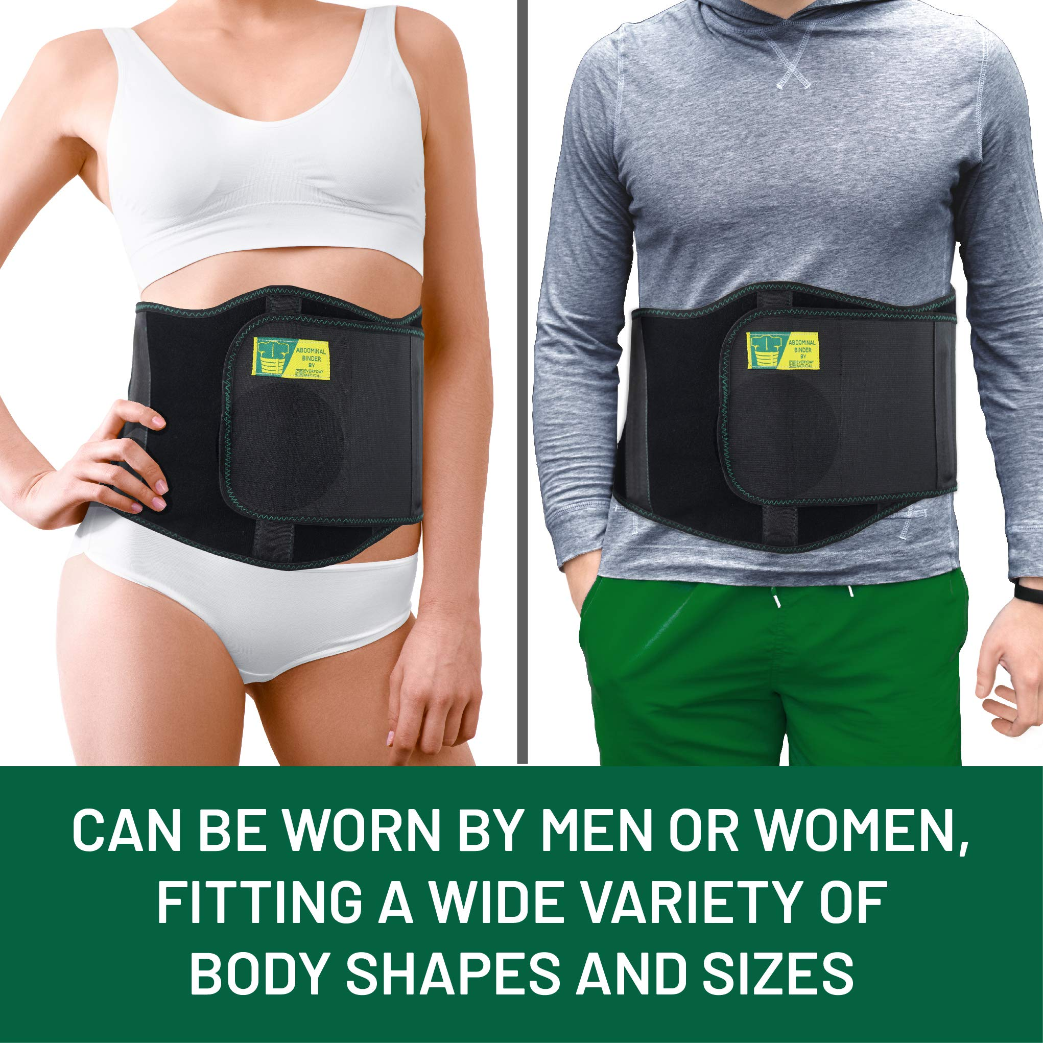 Ergonomic Umbilical Hernia Belt – Abdominal Binder for Hernia Support – Umbilical Navel Hernia Strap with Compression Pad – Ventral Hernia Support for Men and Women - Large/XXL Plus Size (42-57 in) by Everyday Medical (Image #4)