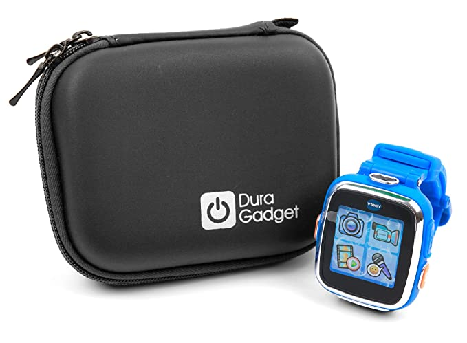 DURAGADGET Kidizoom Smartwatch Case - Premium Quality Shock Absorbant Black Shell Case with Carabiner Clip & Dual Zip Function for Vtech Kidizoom ...