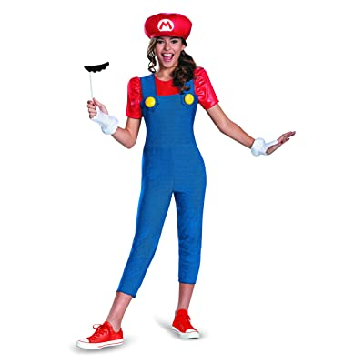 Nintendo Super Mario Brothers Mario Tween Costume, X-Large/14-16: Toys & Games