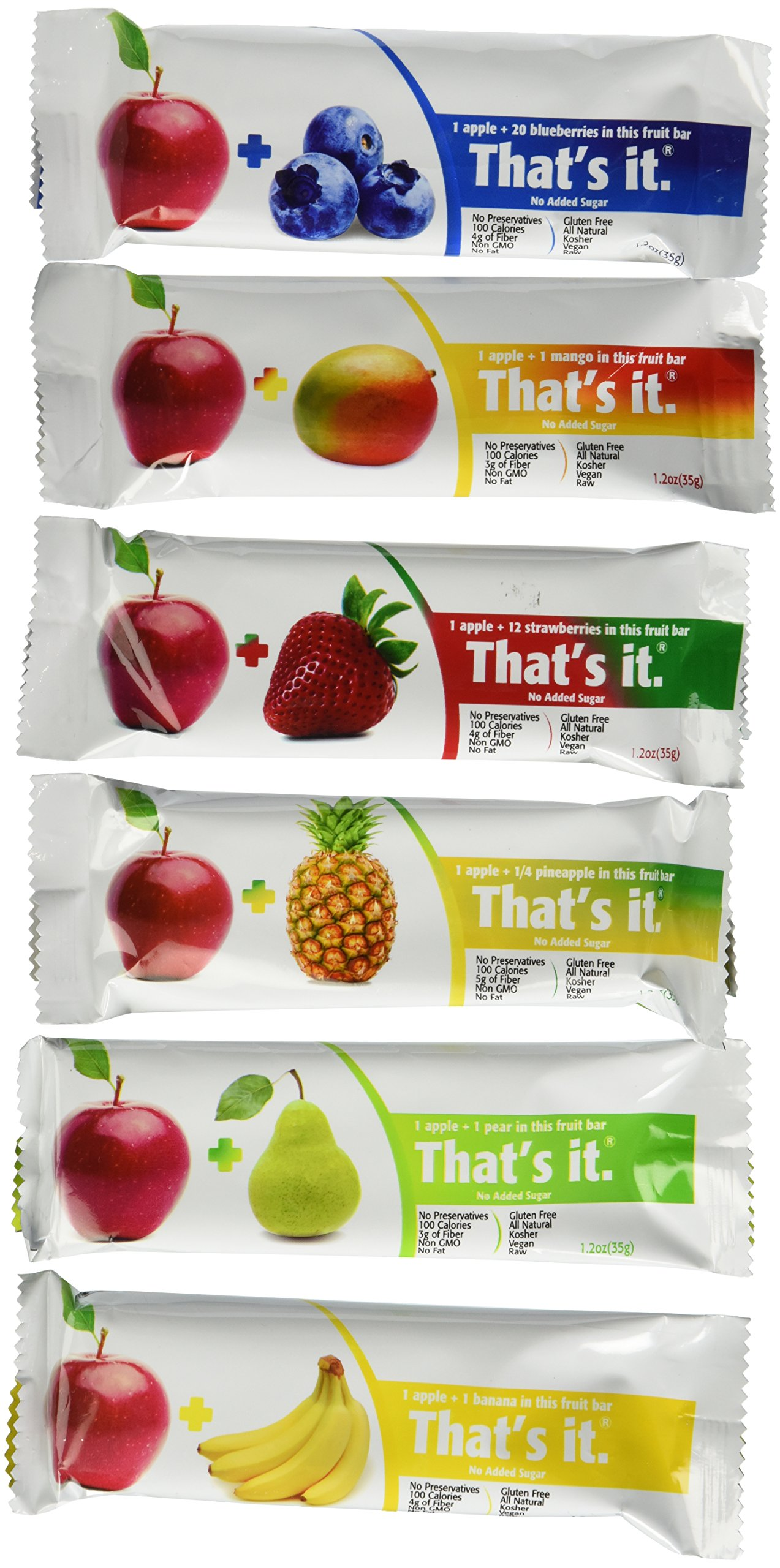 That's it Fruit Bars, Pack of 24 (2 Cases) (6 Flavors Variety Pack of 24)