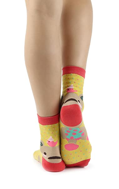Mixmi Boutique Gracioso Lindo oso de peluche Algodón calcetines de mujer en lunares en 8 colores