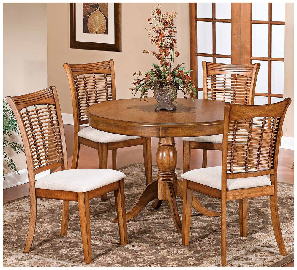 Amazon com pedestal dining table set table chair sets