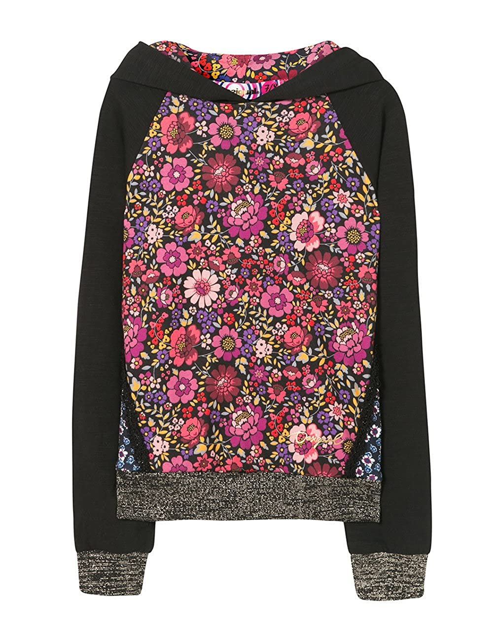 Noir (noir 2000)  Desigual Grebe Sweat-Shirt Fille