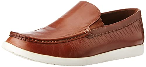 f172dc6403d Image Unavailable. Image not available for. Colour  Louis Philippe Men s Tan  Leather Loafers ...