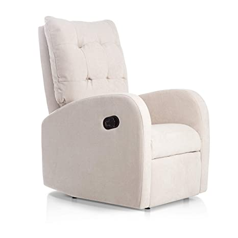 SUENOSZZZ-ESPECIALISTAS DEL DESCANSO Sillon Relax reclinable Soft tapizado Tela Antimanchas Color Beige | Sillon reclinable butaca Relax | Sillon ...