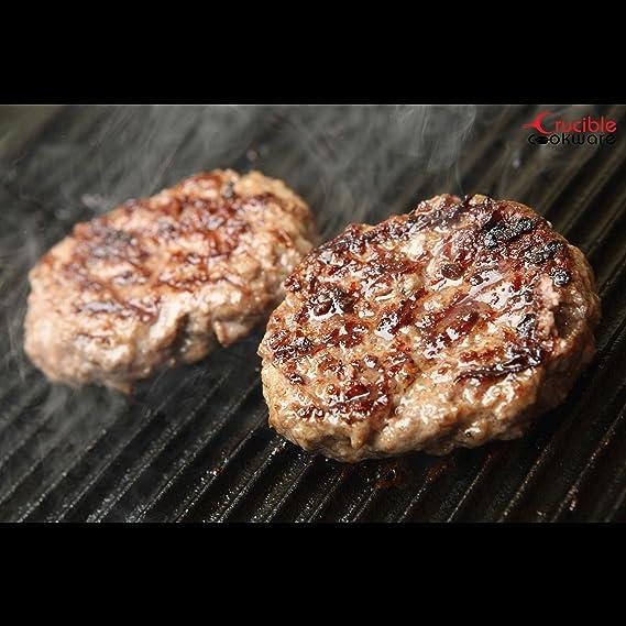 Crucible Cookware Plancha de hierro fundido de 20 pulgadas por 10 pulgadas, reversible, presazonada, parrilla y parrilla Combo: Amazon.es: Hogar