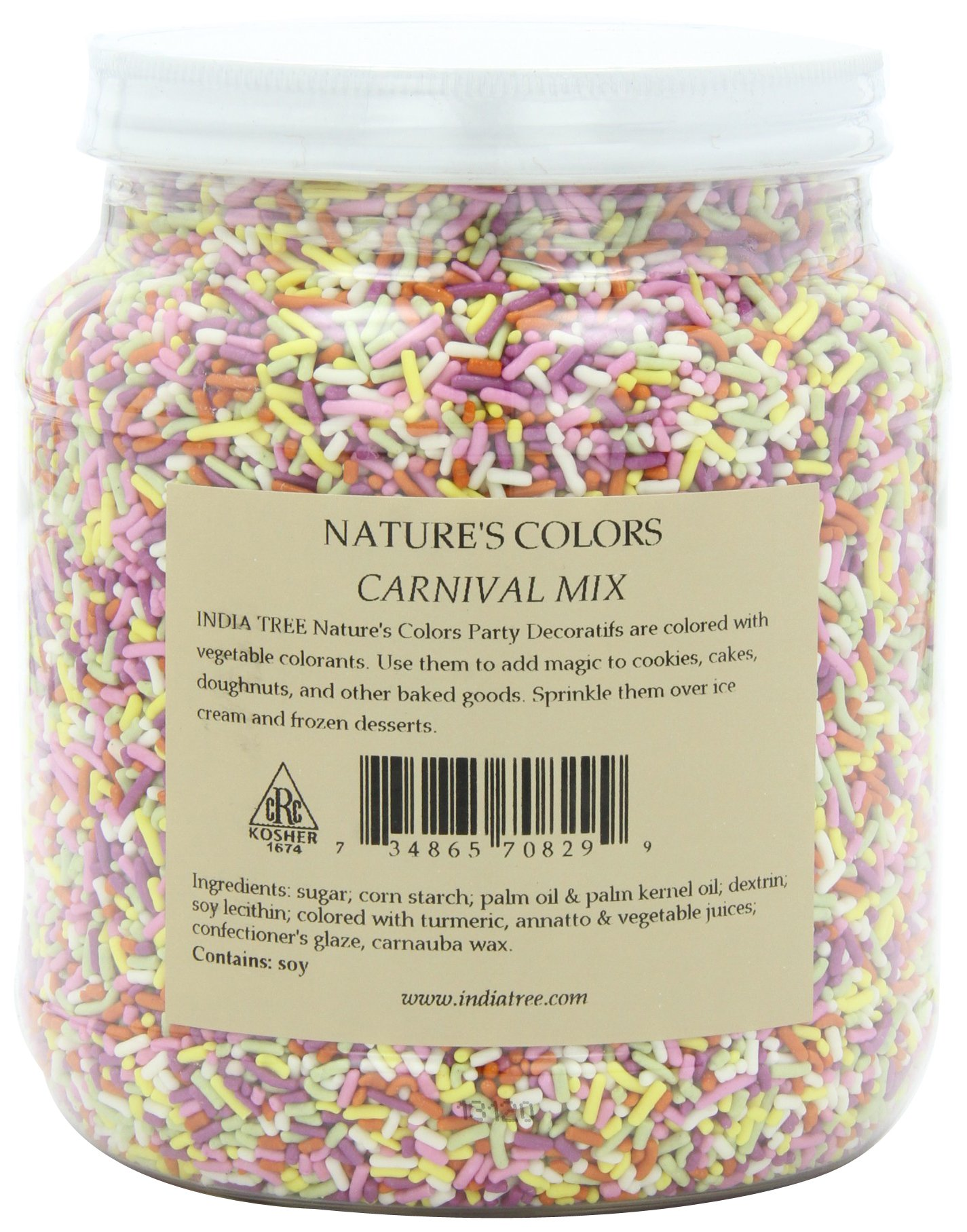India Tree Nature's Colors Sprinkles, Carnival Mix, 2.9-Pound by India Tree