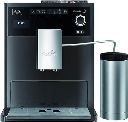 Melitta E 970-205 - Cafetera automática, color gris y negro ...