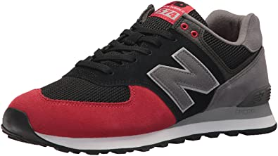 brand new 47877 bd162 New Balance Men s 574 Serpent Luxe Sneaker,Black with Team Red,4.5 2E US