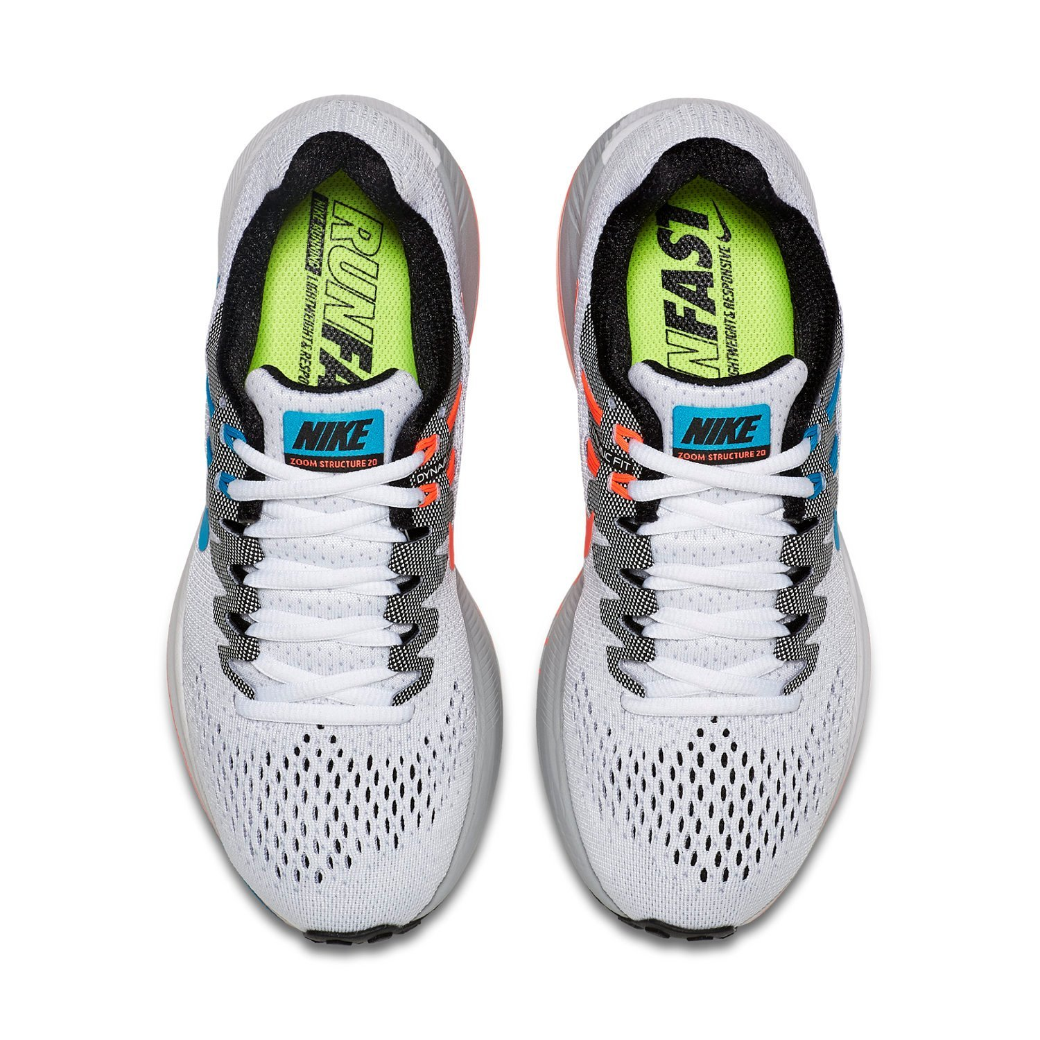 hot sales c5791 0a4c5 Nike Air Zoom Structure 20 Anniversary Women s Running Shoes (849583 100),  White (White Bluee Lagoon Black Hot Lava), 42  Amazon.co.uk  Shoes   Bags