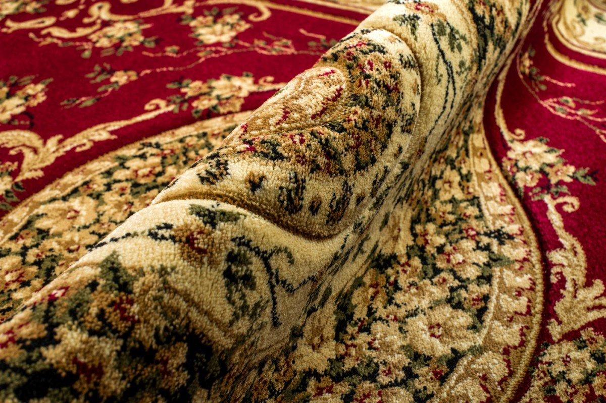 Traditioneller Klassischer Orientalischer - Rot Rot Rot Creme Beige - Perserteppich - Teppich Für Ihre Wohnzimmer - Orientalisches Blaumen Muster - Konturenschnitt Blaumen Ornamente Mandala 3D-Effekt Gewebter Teppich in hoher Qualität   ISKANDER   300 x 606fae