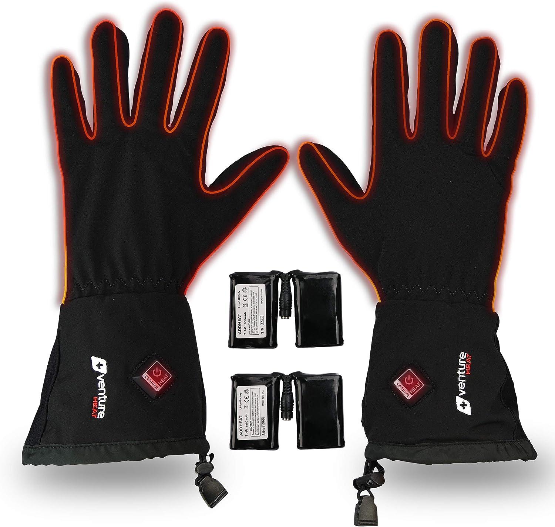 Venture Heat Heated Gloves for Men Women - Battery Powered Glove Liner, Hand Warmer Cycling Ski Snow Winter, Avert 2.0