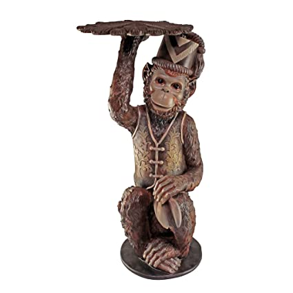 Superbe Design Toscano Moroccan Monkey Butler Sculptural End Table