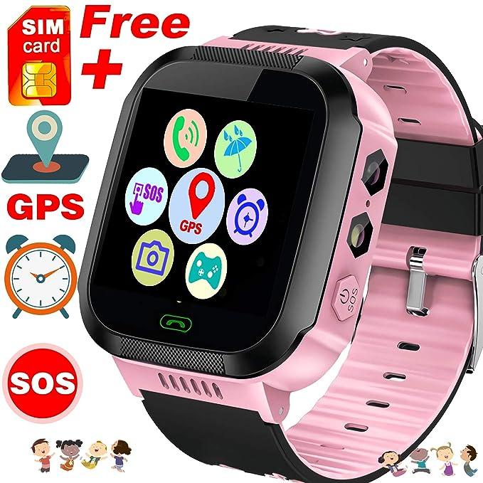 Kids Smart Watch Phone - Free SIM Card Smartwatches for Boys Girls GPS Tracker Watch Wrist Camera SOS Anti-Lost Alarm Digital Clock Sport Watch ...