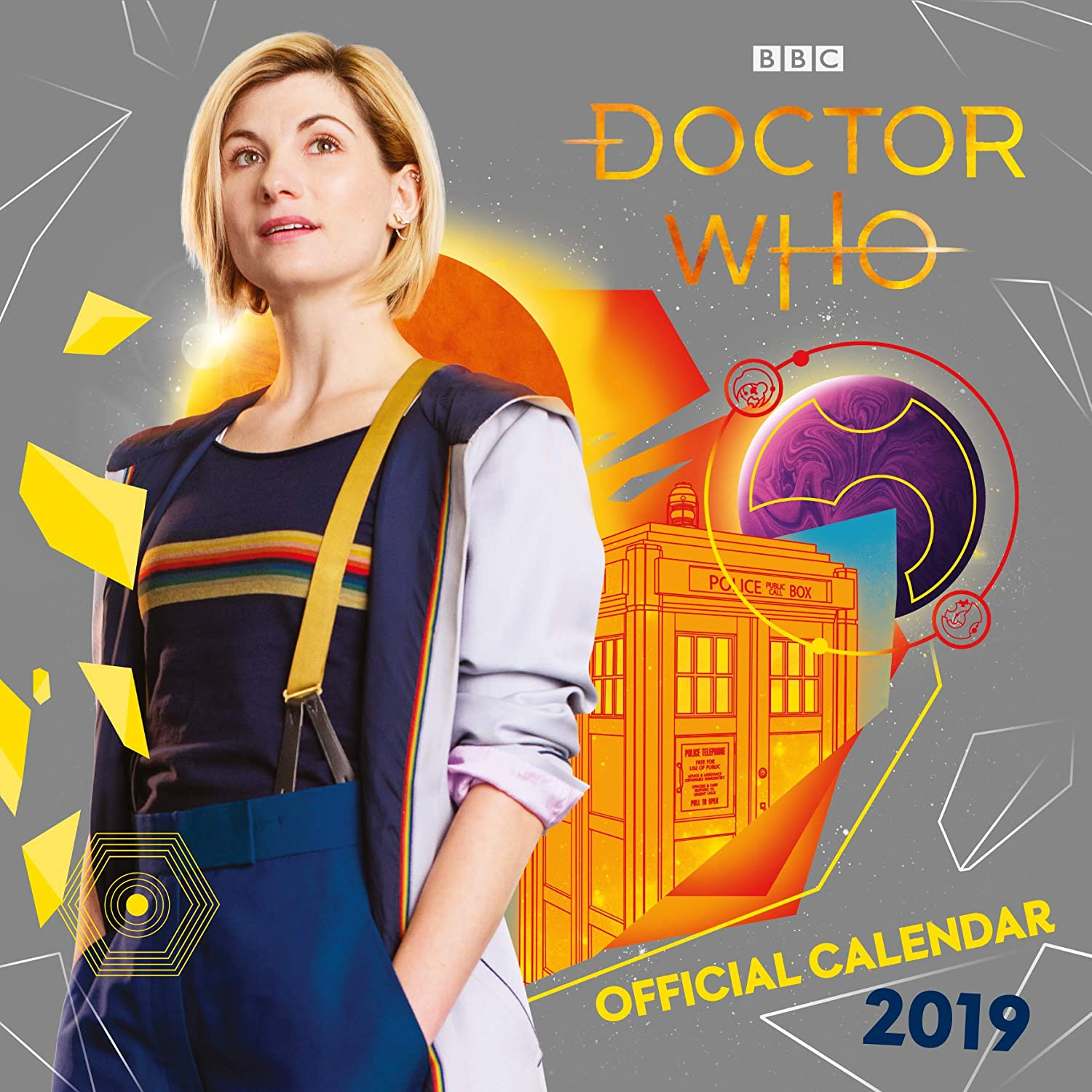 Doctor Who Official 2019 Calendar - Square Wall Calendar Format