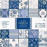 Docrafts, Blocco di carta per découpage Papermania Capsule Collection, Parisienne Blue