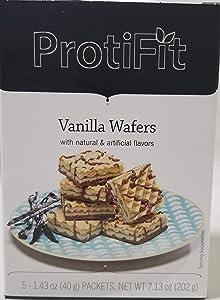 Proti Fit High Protein Wafer Bar - Vanilla (5 Servings/Box) - Trans Fat Free, Aspartame Free, Cholesterol Free