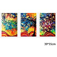Qulista Art 3PZ Set di Pitture a Olio Imitazione Quadri Senza Cornice Quadri su Tela Decorazione per Parete Camera Casa