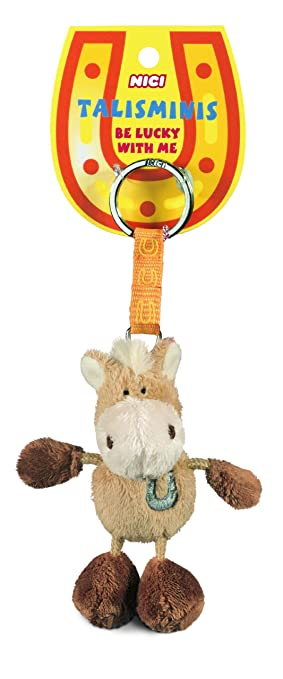 Nici Talisminis 33686 - Llavero con caballo de peluche, 7 cm ...