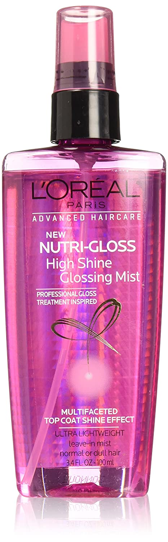 L'Oréal Paris Advanced Haircare Nutrigloss High Shine Glossing Mist, 3.4 fl. oz. (Packaging May Vary)