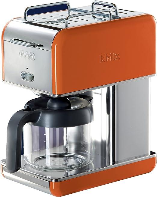 DeLonghi Kmix goteo cafetera eléctrica 10-cup naranja: Amazon.es ...