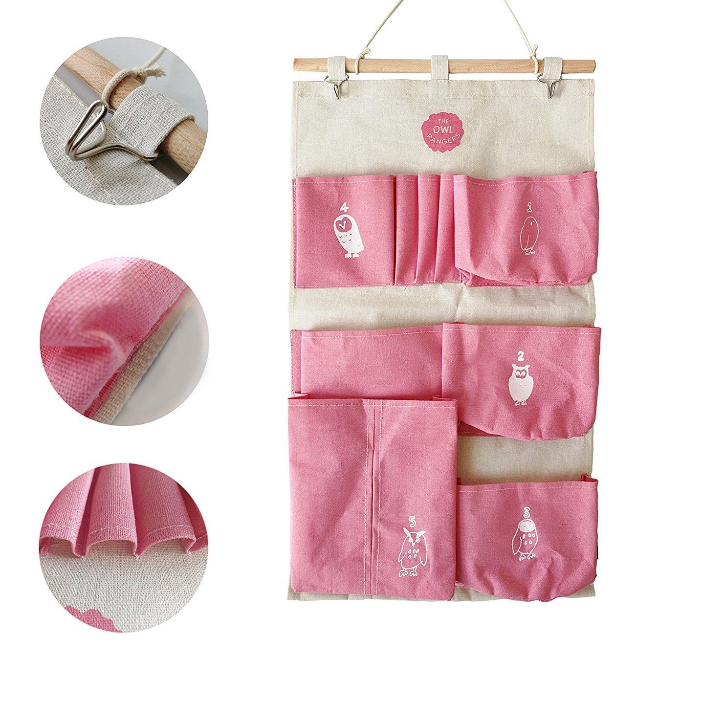 3 Pockets Wall Door Closet Home Hanging Storage Bag Linen Home Organizer AL