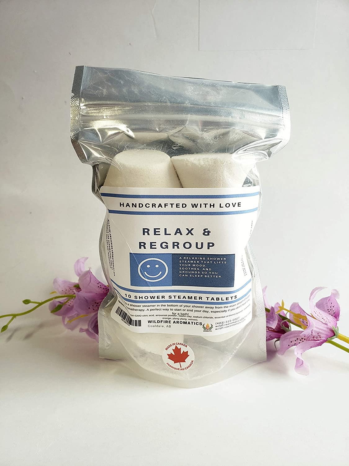 Relax & Regroup Aromatherapy Shower steamer gift pack, 10