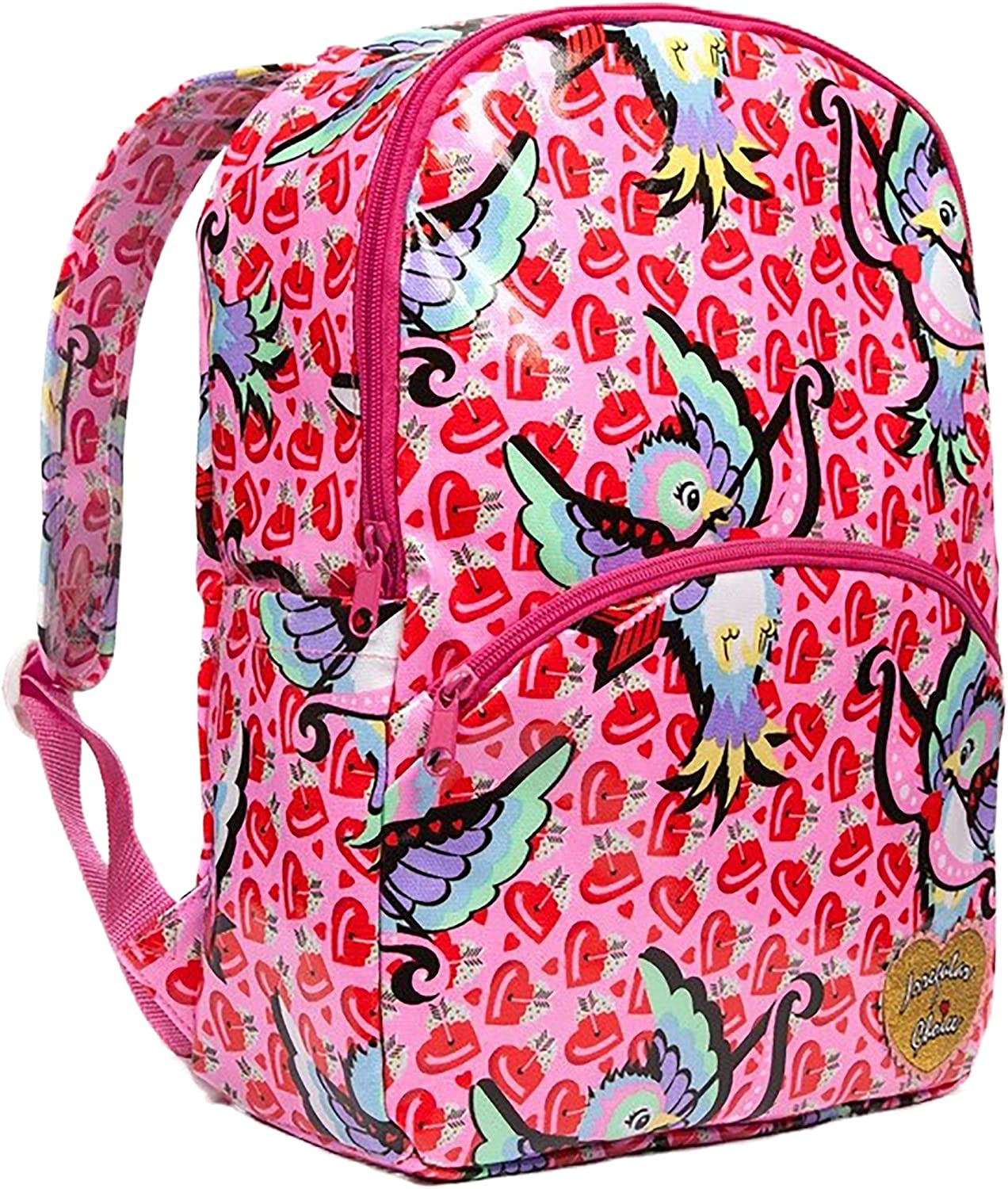 Irregular Choice Cupid Bird Pink Backpack Standard