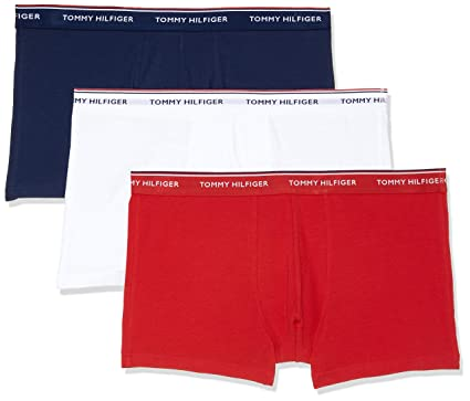 94bcf9d987c0a3 Tommy Hilfiger Mens Pack Of 3 Stretch Premium Essentials Hipsters White  Size S