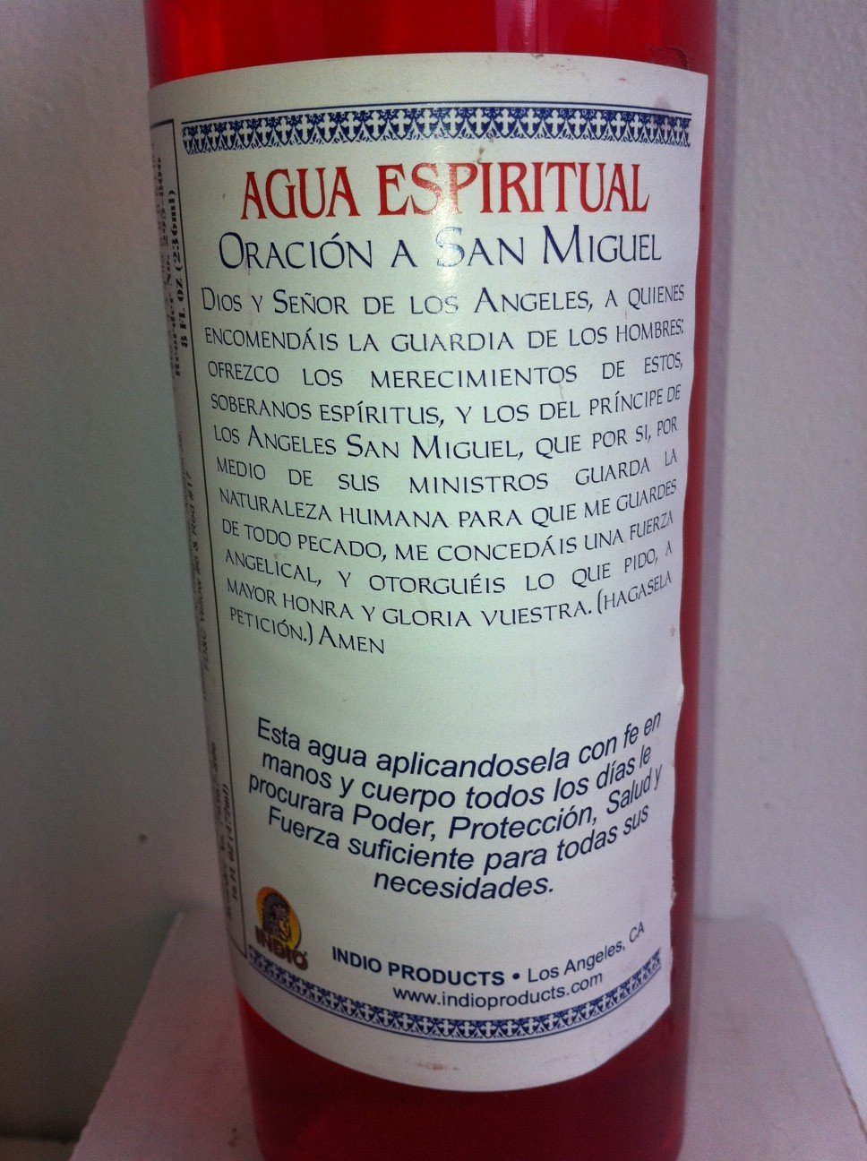a354c4ca1a7 Amazon.com  Indio Products Spiritual Water for Saint Michael the Archangel ( Agua Espiritual San Miguel Arcangel) in the 16 Fl Oz Size  Health    Personal ...