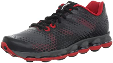 new concept d03be cb27a Reebok Men s Skycell DMX Running Shoe,Black Gravel Grey Grey Red