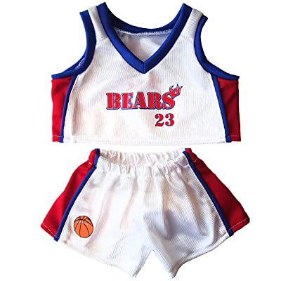 "Basketball Uniform Fits 15"" build a Make Your Own Stuffed Bear or Animals: Toys & Games"