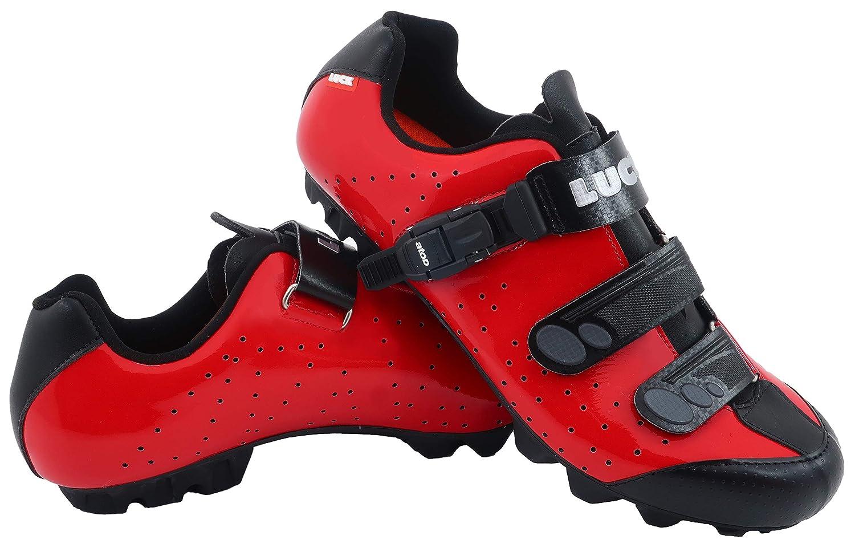 ROUGE LUCK Chaussures de vélo VTT ODíN avec Semelle en Carbone et Fermeture millimétrique de précision. 37 EU