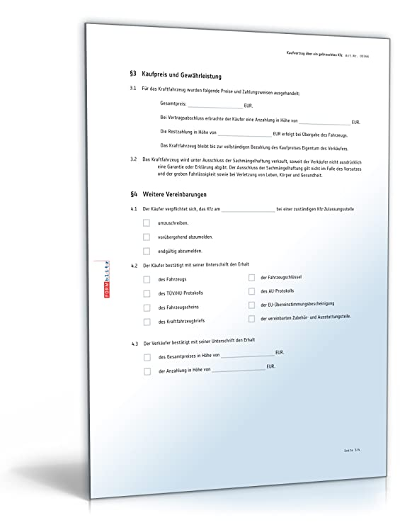 Kfz Kaufvertrag Pdf Download Download Amazonde Software