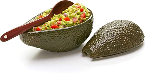 Amazon Com Prepworks By Progressive Guacamole Bowl With Spoon Great For Serving Homemade Guacamole Avocado Dip Guacamole Serving Tray Mixing Bowls Bowls