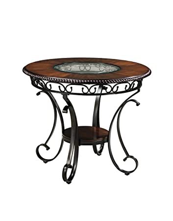 Ashley Furniture Signature Design   Glambrey Dining Room Table   Round    Brown