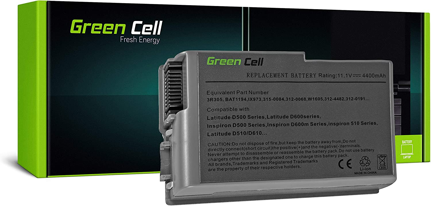 Green Cell C1295 Laptop Battery For Dell Latitude D500 Computers Accessories