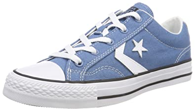 Converse Men s Adults  Star Player Ox Aegean Storm White Black Trainers  Blue ( 94ab1991b75