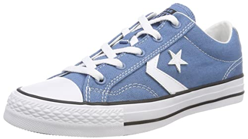 Converse Star Player Ox, Sneaker Unisex-Adulto, Blu (Aegean Storm/White/Black 442), 36 EU