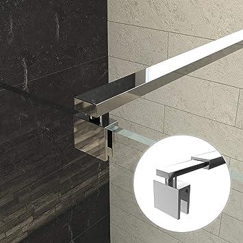 Barra de sujeción para mampara de ducha, acero inoxidable (ajuste 700 – 1200 mm) para grosores de cristal 6 – 10 mm: Amazon.es: Bricolaje y herramientas